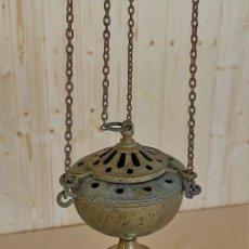Antigüedades: BOTAFUMEIRO DE BRONCE. Lote 244990945