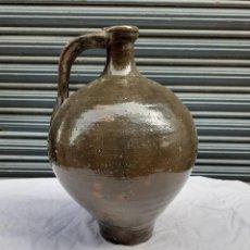 Antigüedades: RARO Y ANTIGUO CANTARO ZONA ANDALUCIA VERDE VIDRIADO VER FOTOS. Lote 245009585