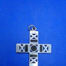 Antigüedades: GRAN CRUZ DE PLATA Y EBANO. Lote 245009845