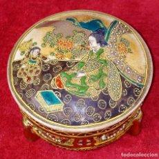 Antigüedades: JOYERO SATSUMA EN PORCELANA ESMALTADA. JAPÓN. SIGLO XIX. Lote 245013765