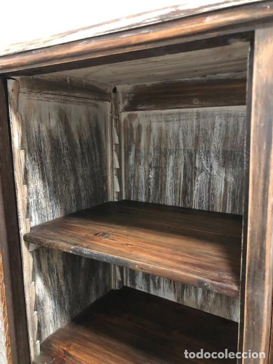 Antigüedades: ANTIGUO MUEBLE BIBLOTECA BURO - MEDIDA COMPLETA 180X150X44 CM - Foto 25 - 245020180