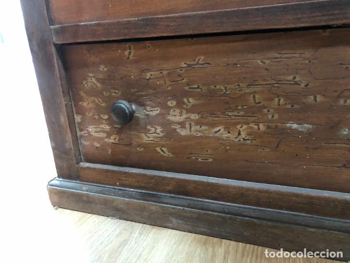 Antigüedades: ANTIGUA COMODA BURO DE MADERA - MEDIDA 101X45X123 CM - Foto 11 - 245020730