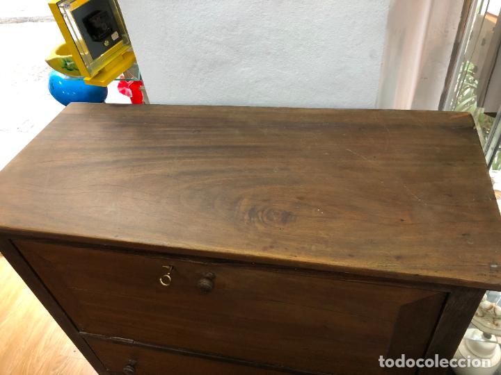 Antigüedades: ANTIGUA COMODA BURO DE MADERA - MEDIDA 101X45X123 CM - Foto 16 - 245020730