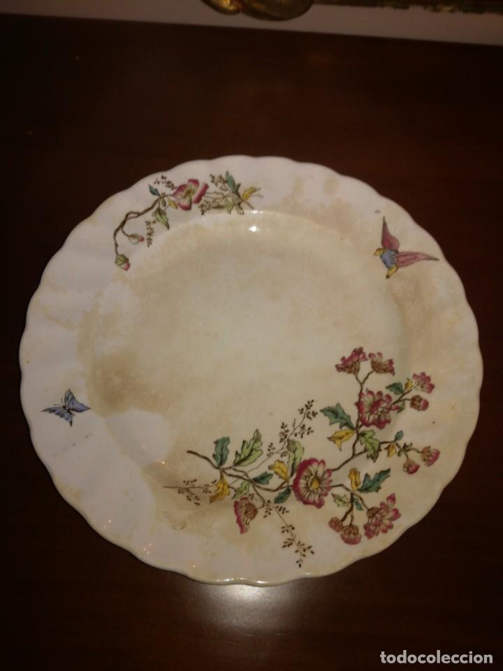 ANTIGUO PLATO LLANO PICKMAN MEDALLA DE ORO (Antigüedades - Porcelanas y Cerámicas - La Cartuja Pickman)