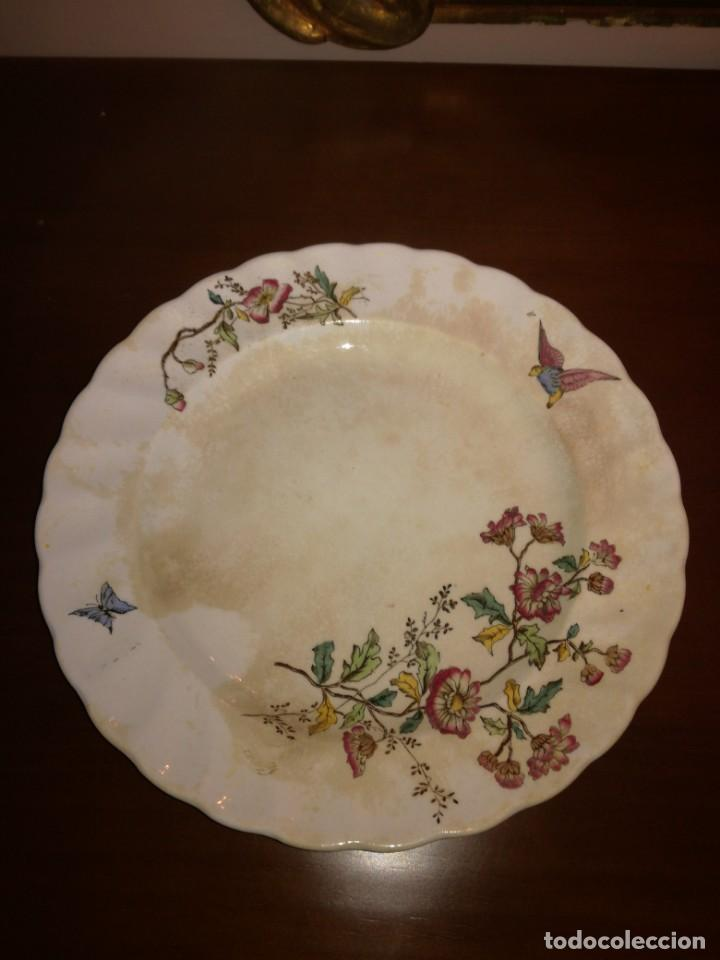 Antigüedades: Antiguo plato llano Pickman Medalla de Oro - Foto 2 - 245095490