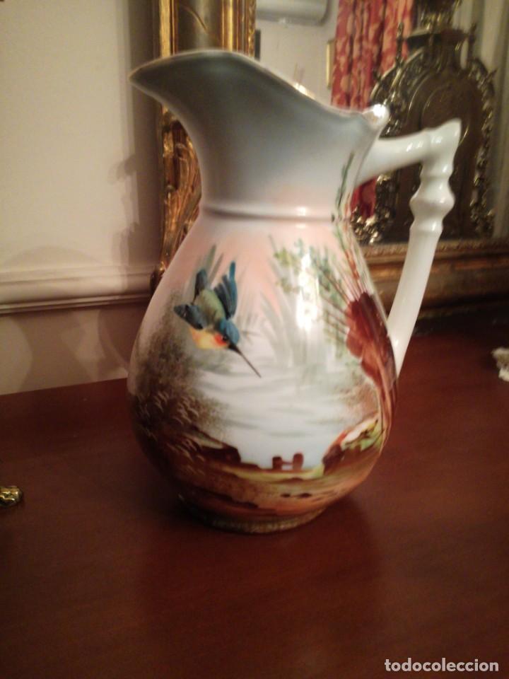 JARRA AGUAMANIL PORCELANA LIMOGES (Antigüedades - Porcelana y Cerámica - Francesa - Limoges)