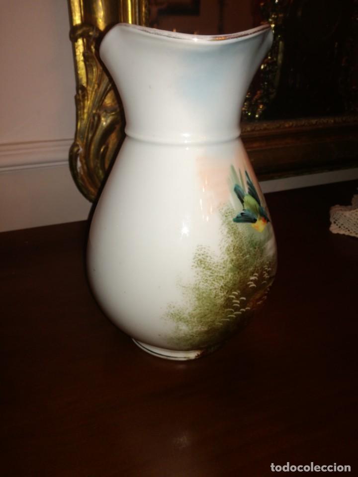 Antigüedades: Jarra aguamanil porcelana Limoges - Foto 3 - 245096690