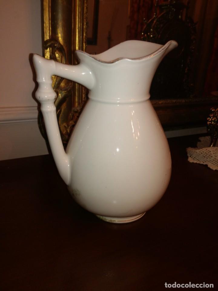 Antigüedades: Jarra aguamanil porcelana Limoges - Foto 4 - 245096690