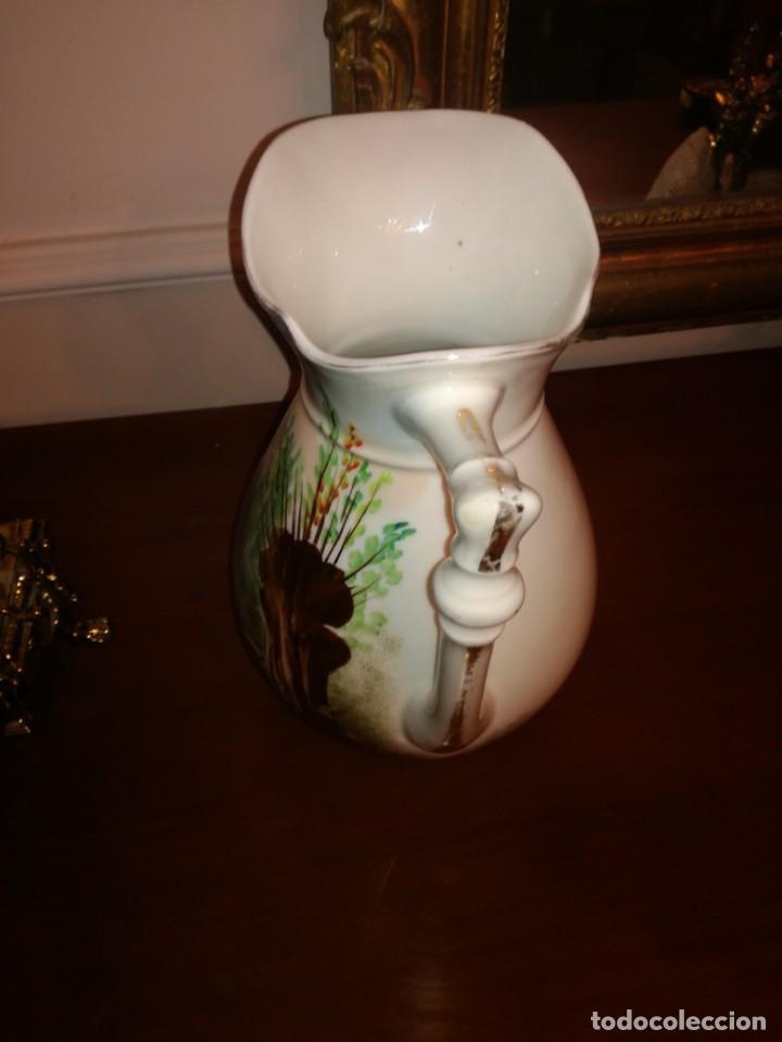 Antigüedades: Jarra aguamanil porcelana Limoges - Foto 5 - 245096690