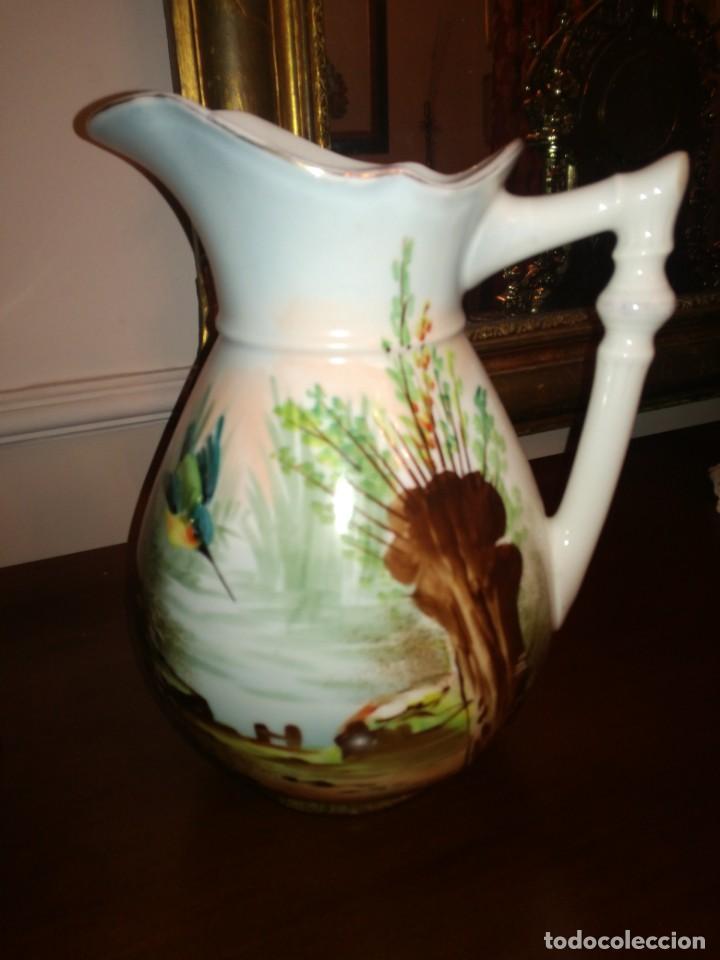 Antigüedades: Jarra aguamanil porcelana Limoges - Foto 6 - 245096690