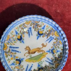 Antigüedades: FINO PLATO EN CERAMICA DE TALAVERA FABRICA RUIZ DE LUNA PRINCIPIOS XIX. Lote 245105345