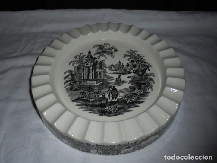 CENICERO GRANDE LA CARTUJA DE SEVILLA PICKMAN SELLADO POR DEBAJO (Antigüedades - Porcelanas y Cerámicas - La Cartuja Pickman)