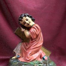 Antigüedades: ANTIGUO NIÑO JESUS EN CRUZ OLOT. Lote 245109290