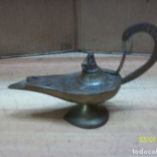 Antigüedades: LAMPARA DE ACEITE DE BRONCE. Lote 245112775