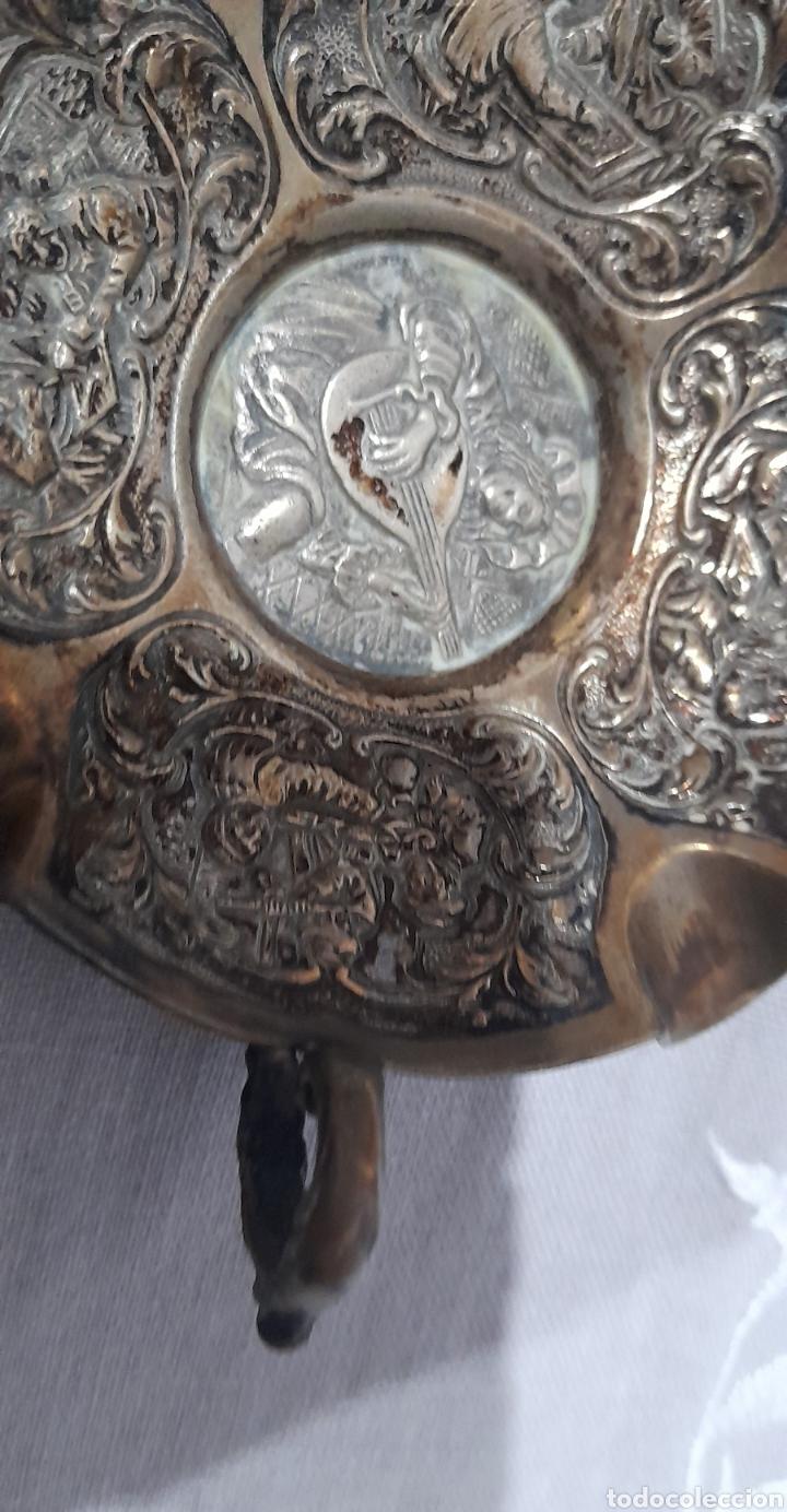 Antigüedades: Cenicero labrado y punzonado Antiguo. Ver fotos. - Foto 4 - 245115160