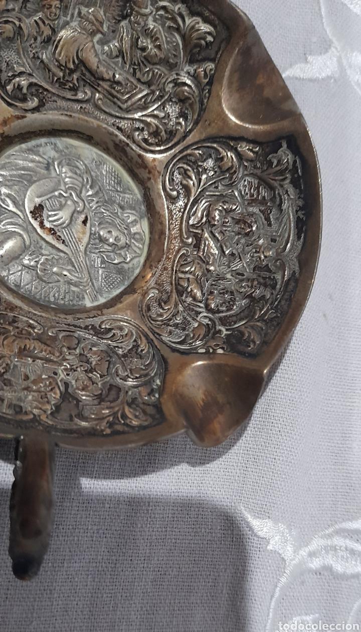 Antigüedades: Cenicero labrado y punzonado Antiguo. Ver fotos. - Foto 6 - 245115160