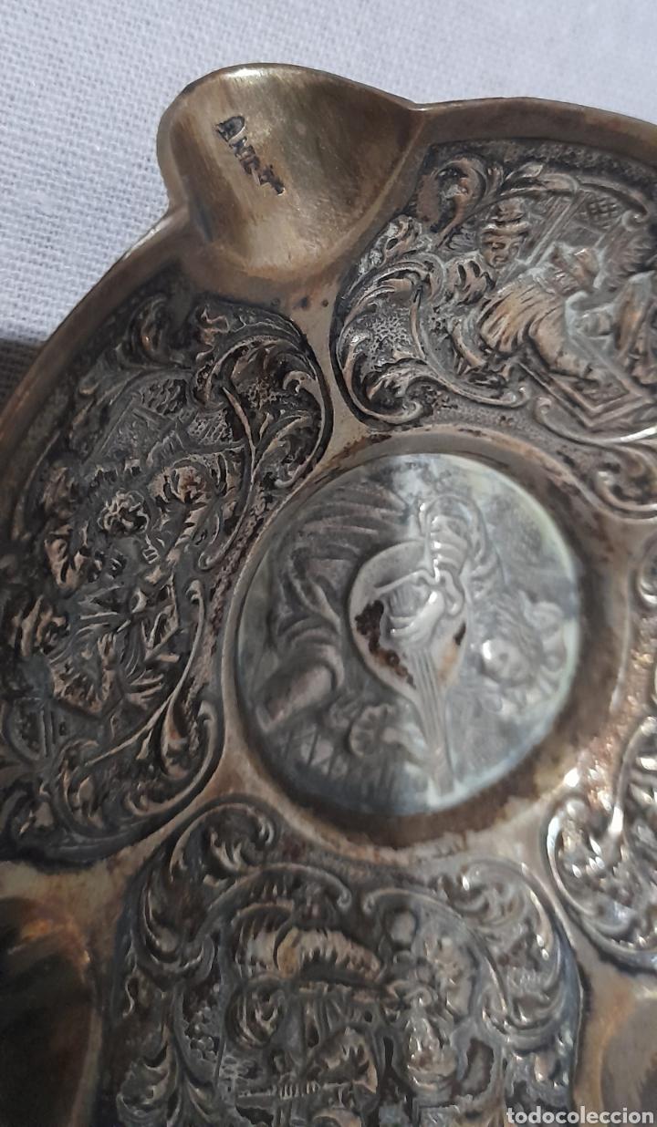 Antigüedades: Cenicero labrado y punzonado Antiguo. Ver fotos. - Foto 7 - 245115160
