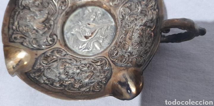 Antigüedades: Cenicero labrado y punzonado Antiguo. Ver fotos. - Foto 8 - 245115160