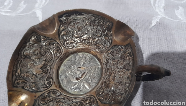 Antigüedades: Cenicero labrado y punzonado Antiguo. Ver fotos. - Foto 9 - 245115160