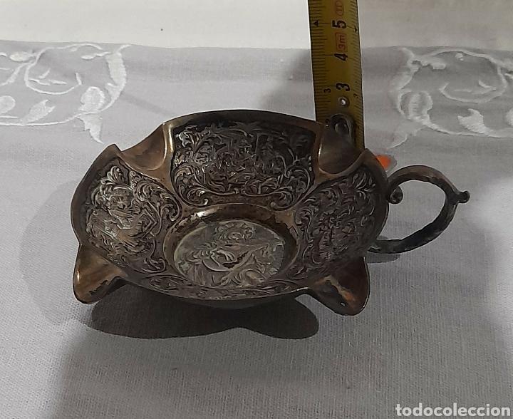 Antigüedades: Cenicero labrado y punzonado Antiguo. Ver fotos. - Foto 12 - 245115160