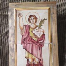 Antigüedades: LADRILLO AZULEJO RELIGIOSO. Lote 245121085