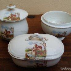 Antigüedades: ANTIGUO JUEGO DE TOCADOR PICKMAN LA CARTUJA. Lote 245124070