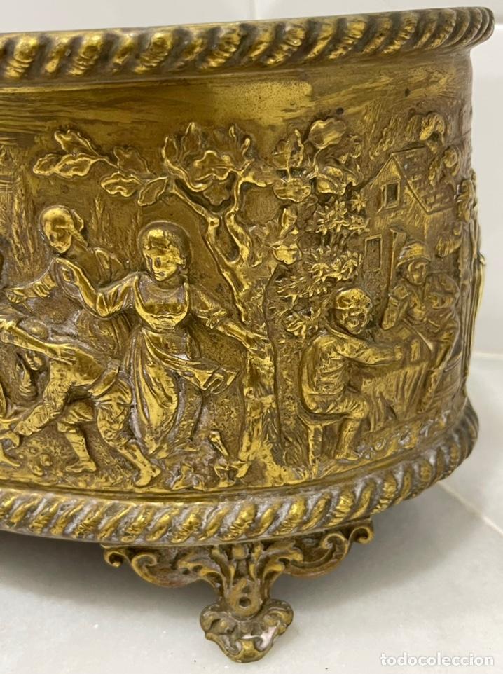 Antigüedades: ANTIGUA JARDINERA DE LOS PAÍSES BAJOS EN LATÓN SIGLO XIX - Foto 7 - 245128060