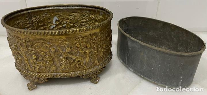Antigüedades: ANTIGUA JARDINERA DE LOS PAÍSES BAJOS EN LATÓN SIGLO XIX - Foto 8 - 245128060
