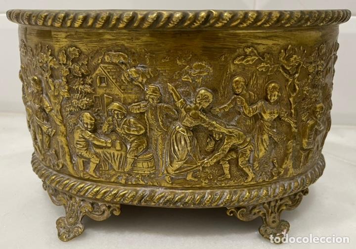 Antigüedades: ANTIGUA JARDINERA DE LOS PAÍSES BAJOS EN LATÓN SIGLO XIX - Foto 10 - 245128060