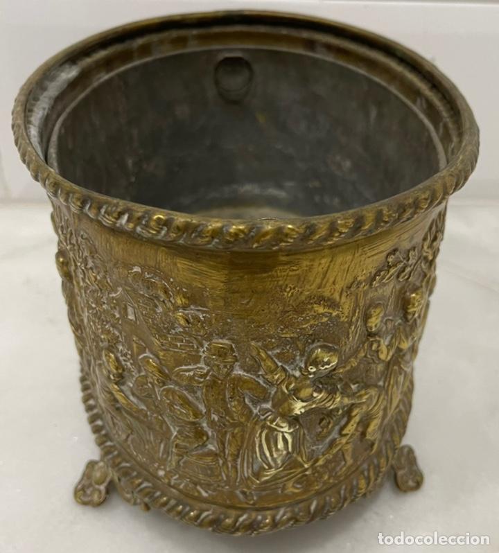 Antigüedades: ANTIGUA JARDINERA DE LOS PAÍSES BAJOS EN LATÓN SIGLO XIX - Foto 11 - 245128060