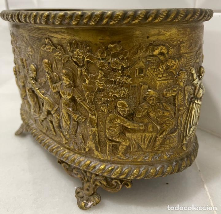 Antigüedades: ANTIGUA JARDINERA DE LOS PAÍSES BAJOS EN LATÓN SIGLO XIX - Foto 12 - 245128060
