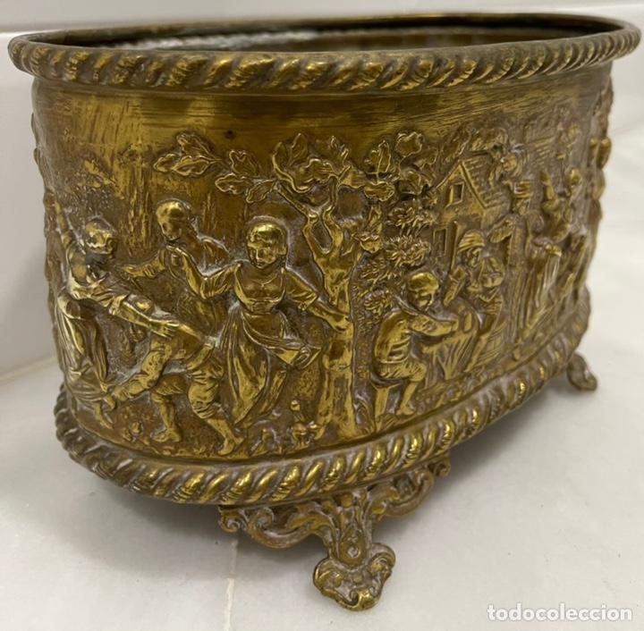 Antigüedades: ANTIGUA JARDINERA DE LOS PAÍSES BAJOS EN LATÓN SIGLO XIX - Foto 13 - 245128060