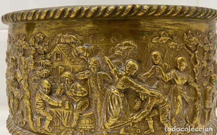 Antigüedades: ANTIGUA JARDINERA DE LOS PAÍSES BAJOS EN LATÓN SIGLO XIX - Foto 14 - 245128060