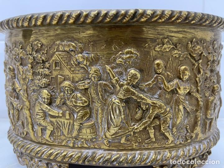 Antigüedades: ANTIGUA JARDINERA DE LOS PAÍSES BAJOS EN LATÓN SIGLO XIX - Foto 15 - 245128060