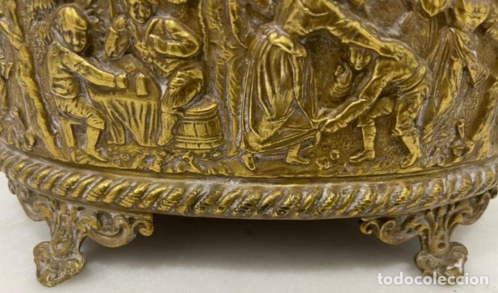 Antigüedades: ANTIGUA JARDINERA DE LOS PAÍSES BAJOS EN LATÓN SIGLO XIX - Foto 16 - 245128060