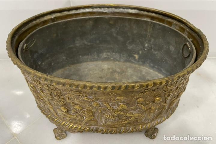 Antigüedades: ANTIGUA JARDINERA DE LOS PAÍSES BAJOS EN LATÓN SIGLO XIX - Foto 17 - 245128060