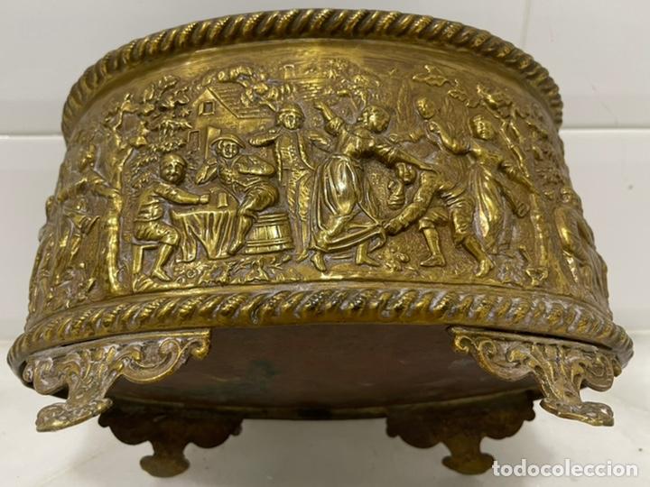 Antigüedades: ANTIGUA JARDINERA DE LOS PAÍSES BAJOS EN LATÓN SIGLO XIX - Foto 18 - 245128060