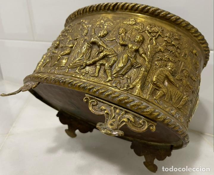 Antigüedades: ANTIGUA JARDINERA DE LOS PAÍSES BAJOS EN LATÓN SIGLO XIX - Foto 19 - 245128060