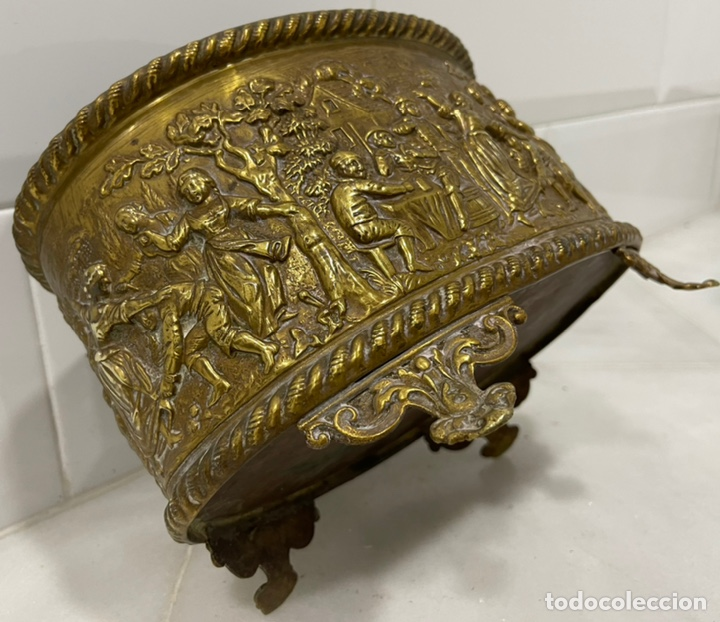 Antigüedades: ANTIGUA JARDINERA DE LOS PAÍSES BAJOS EN LATÓN SIGLO XIX - Foto 20 - 245128060