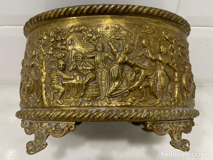 Antigüedades: ANTIGUA JARDINERA DE LOS PAÍSES BAJOS EN LATÓN SIGLO XIX - Foto 21 - 245128060