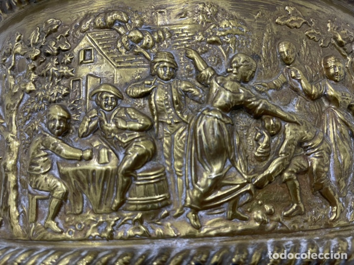 Antigüedades: ANTIGUA JARDINERA DE LOS PAÍSES BAJOS EN LATÓN SIGLO XIX - Foto 22 - 245128060