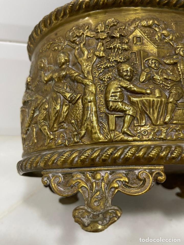 Antigüedades: ANTIGUA JARDINERA DE LOS PAÍSES BAJOS EN LATÓN SIGLO XIX - Foto 23 - 245128060