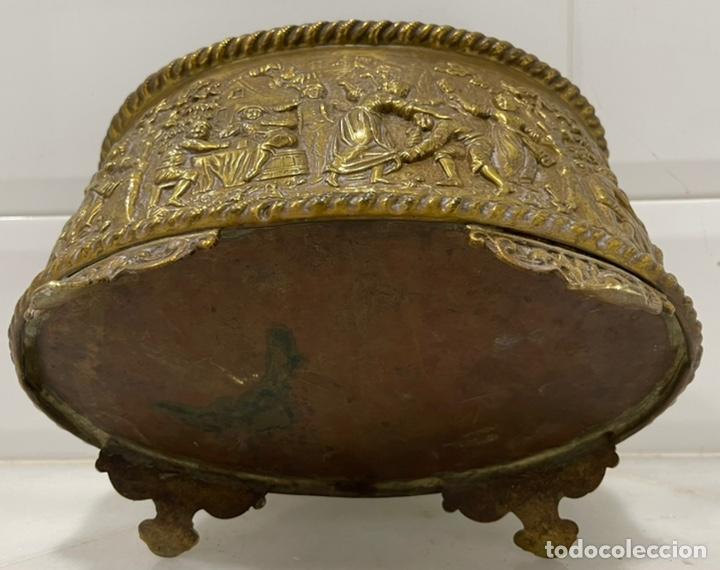 Antigüedades: ANTIGUA JARDINERA DE LOS PAÍSES BAJOS EN LATÓN SIGLO XIX - Foto 24 - 245128060