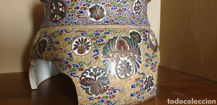 Antigüedades: Peana de porcelana Satsuma, siglo XIX - Foto 2 - 245135165