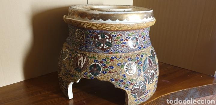 Antigüedades: Peana de porcelana Satsuma, siglo XIX - Foto 3 - 245135165