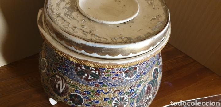 Antigüedades: Peana de porcelana Satsuma, siglo XIX - Foto 4 - 245135165