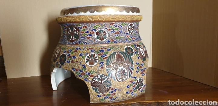 PEANA DE PORCELANA SATSUMA, SIGLO XIX (Antigüedades - Porcelana y Cerámica - Japón)