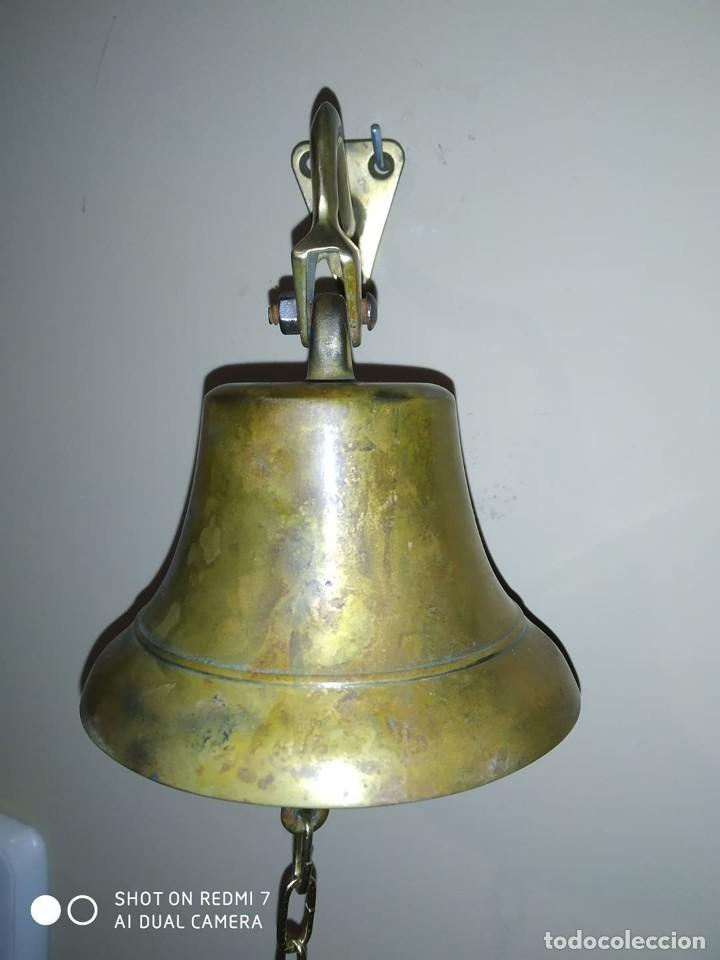 ANTIGUA CAMPANA BRONCE LLAMADOR MUY DECORATIVA CALIDAD COLECCION PIEZA VINTAGE (Antigüedades - Hogar y Decoración - Campanas Antiguas)