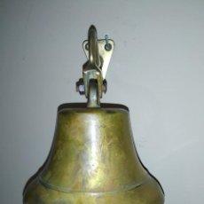Antigüedades: ANTIGUA CAMPANA BRONCE LLAMADOR MUY DECORATIVA CALIDAD COLECCION PIEZA VINTAGE. Lote 245156480
