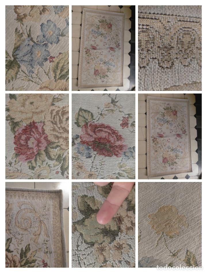 ALFOMBRA ALFOMBRILLA FLORAL TIPO TAPIZ . 120 X 70 CM (Antigüedades - Hogar y Decoración - Alfombras Antiguas)